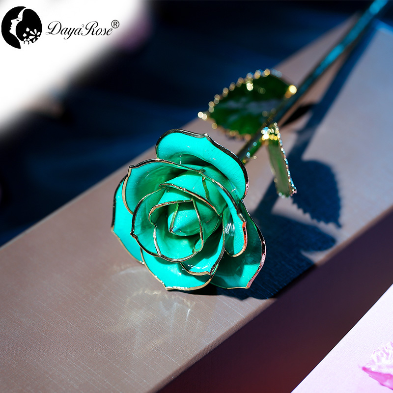 Wholesale Processing Customized Diana Sky Blue Gold Rose