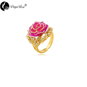 Beautiful Gold Rose Rose Red Ring (natural Flowers)