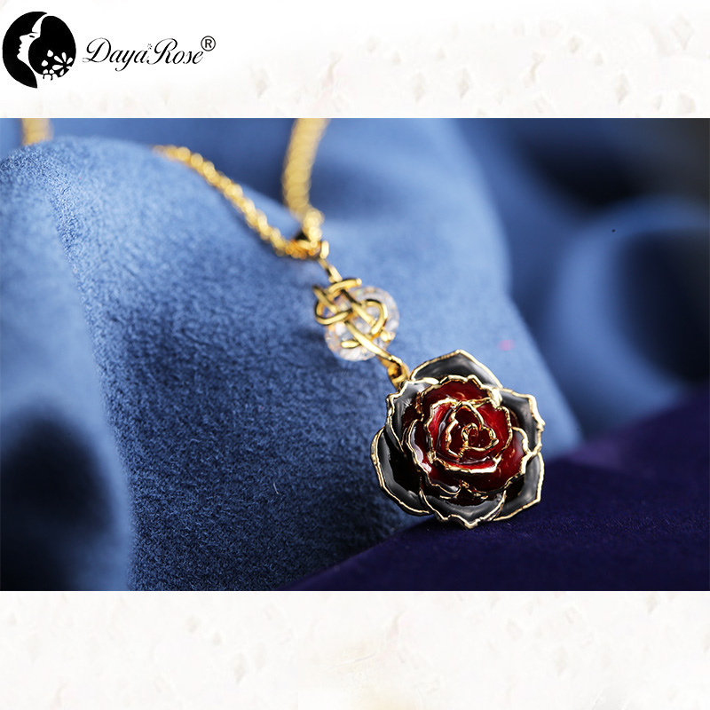 Nass Two-tone Rose Necklace (fresh Rose)