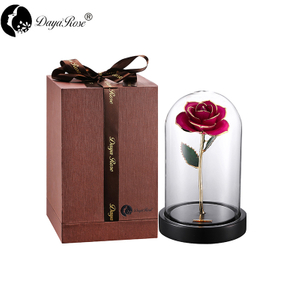 Rose Gilt in Rose Red Color(The Glass Cover)