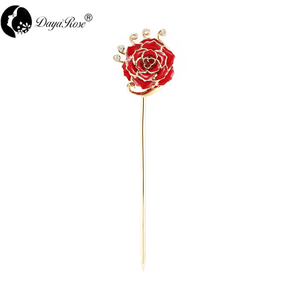 Angel Rainbow Golden Rose Hairpin (natural Flowers)
