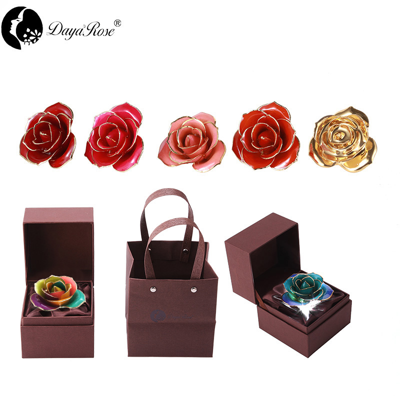 Love Only Seven Color Gold Roses (natural Rose)