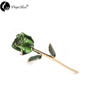 Daya Gold Rosebud (dark Green)