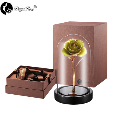 Daiya Fruit Green Rose 24K Gold /gold Leaf+The Glass Cover