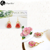 Love You Gold Rose Earrings (fresh Rose)