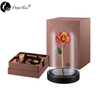 Wholesale Processing Customized Diana Champagne Rose with Purple And Gold (The Glass Cover)