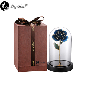 Pale Blue Roses Gilded(The Glass Cover)